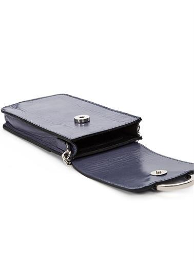 Vekem-Limited Edition Zincir Askılı Deri Çanta Mavi
